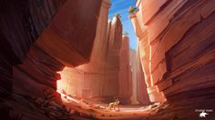 CANYON_ABORTED PROJECT AT STUDIO HARI, Clement dartigues on ArtStation at https://www.artstation.com/artwork/n493o