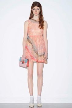 RedValentino Multicoloured lace dress