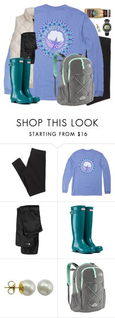 """""""Untitled #768"""" by southernstylish ❤ liked on Polyvore featuring American Eagle Outfitters, The North Face, Hunter, Majorica and Timex"""