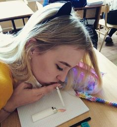 craziest thing you did in class? source: unknown dm for credit Streetwear, Alcohol Is A Drug, Crazy Colour, Girl Smoking, Photo Black, Tumblr Girls, Up Girl, Cute Hairstyles, Girly