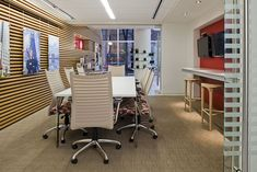 Bernhardt Design's Prisma table at Northeastern University by Rodgers Builders