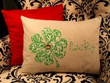 St. Patrick's Day Pillow from Infarrently Creative.