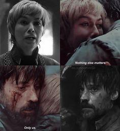 Jaime and Cersei. Episode 5, Season 8, Game of Thrones.