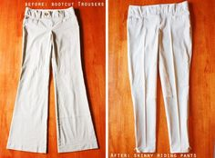 Bootcut to riding trousers | Trash Into Treasure: 10 Rad Upcycling Projects