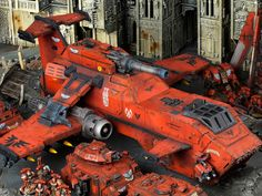 Blood Angels Army from a White Dwarf article.  I never realized how big thunderhawks were till now.