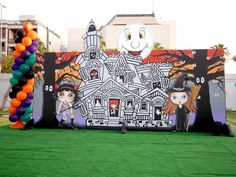 Scary Party kids style with amazing artwork from our talented Fantasy Party artists.