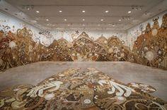 """Yamatane"" Exhibition, 2014, Rice University Art Gallery, Houston, USA, shooting: Nash Baker"