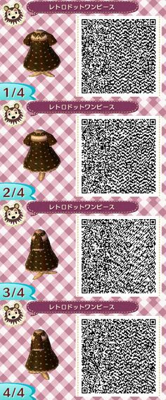 Old style dress. Qr codes.