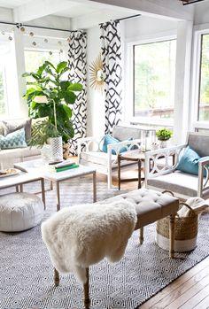 sarah m. dorsey designs: Sarah M. Dorsey Designs Turns 3 + Big Plans for 2015 Home Living Room, Living Room Decor, Living Spaces, Drapery Rods, Piece A Vivre, Living Room Inspiration, Decoration, Family Room, House Design