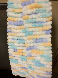 Free Crochet Patterns Using Pom Pom Yarn : Pompom baby blanket. I used four skeins of bunny tail yarn ...
