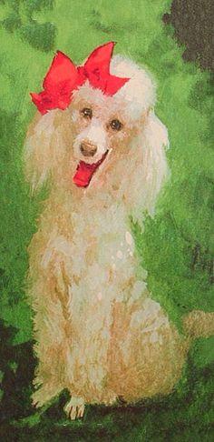 Posing poodle at Christmas.