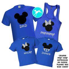 Mickey Head Royal Blue Family Set