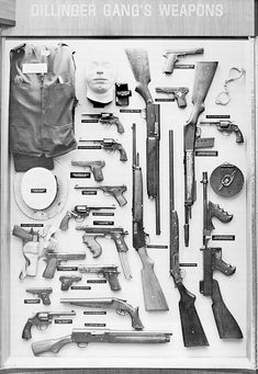 Dillinger Gang's Weapons.