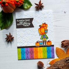 August Reveals - Day 1 - Pumpkin Latte Stamp Set by Newton's Nook Designs Cloud Stencil, Leaf Stencil, Giant Pumpkin, Pumpkin Spice Coffee, Coffee Cards, Thanksgiving Cards, Fall Cards, Autumn Theme, Halloween Cards