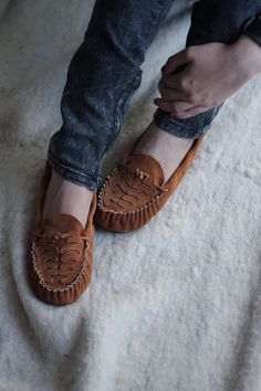 Suede Ribcage Flats / another lovely moccasin from Manimal. so perfect for Fall.