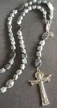 RuGGeD MeNs RoSaRy/ HoLY SPiRiT/ Gemstone Rosary/ by Ivanwerks