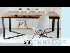 HOW I MADE MY DINING TABLE - UNDER $60- DIY Table - Scandinavian