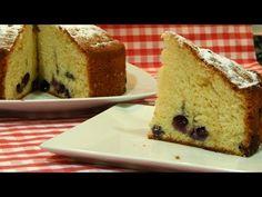 Receta fácil de bizcocho super esponjoso de arándanos frescos - YouTube