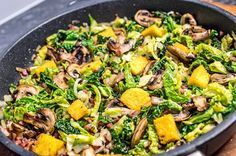 Polenta, Vegan Vegetarian, Vegetarian Recipes, Yummy Veggie, Johannes, Food And Drink, Low Carb, Dishes, Vegetables