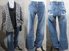 Silver Jeans Co Brand Ladies Jeans, Pioneer Style, Distressed Boot Cut 33/31 #SilverJeans #BootCut