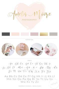 makeup logo – Hair and beauty tips, tricks and tutorials Business Logo, Business Design, Business Cards, Branding Kit, Branding Design, Photography Logos, Heart Photography, Photography Ideas, Wedding Photography
