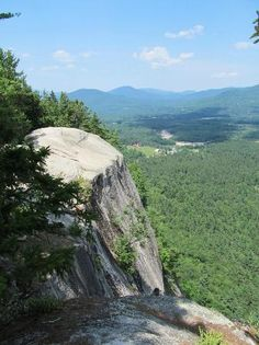 Cathedral ledge   - it is so beautiful up here, you can see forever! Poplular rock climbing mountain in No Conway, NH