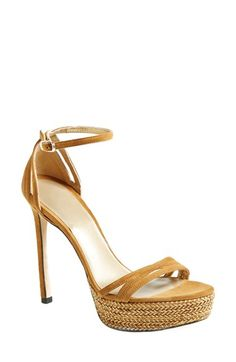 Stuart Weitzman 'Whichway' Suede Platform Sandal (Women) available at #Nordstrom