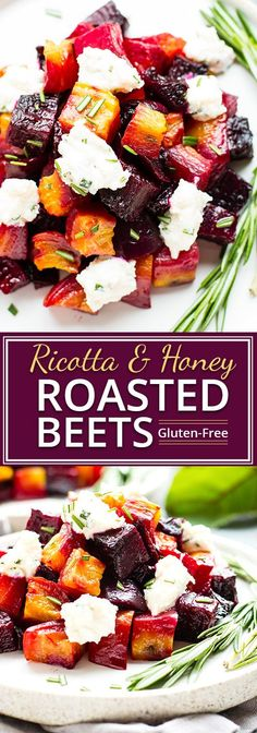 chicken side dishes An elegant but super easy side dish, these oven-roasted beets are served with a slightly sweet and tangy honey ricotta and then topped with fresh herbs. Party Side Dishes, Easter Side Dishes, Side Dishes Easy, Healthy Side Dishes, Side Dish Recipes, Easy Thanksgiving Side Dishes, Recipes Dinner, Christmas Side Dishes, Baby Dishes