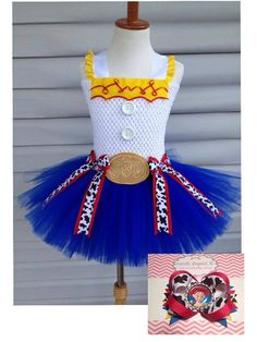 Jessie toy story 3t4t tutu with matching bow by bsimplebows, $32.00