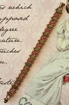 Linda's Crafty Inspirations: Bracelet of the Day: Tallulah Tila Bracelet - Olive & Rose