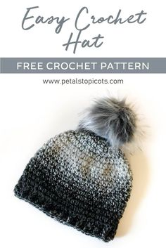 40273609275 A super basic and easy crochet hat pattern for beginners and more  experienced crocheters alike.