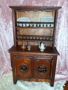 WISHES DO COME TRUE on Ruby Lane http://www.rubylane.com/item/532635-106F0917LM/18-Antique-Oak-French-Breton #dollfurniture