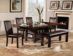 Davenport 6 piece dining set - Lainey's Furniture For Living, Vacaville, CA 95688