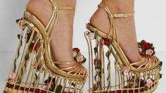 Dolce & Gabbana lanceert onconventionele lederen kooi-platform hakken