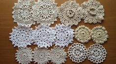 14 Beige, Ecru, and Off- White Vintage Crochet Doilies on Etsy, $11.85 CAD