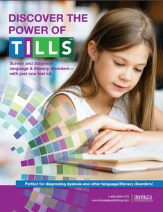 The Test of Integrated Language & Literacy Skills (TILLS) lets you easily screen and diagnose language and literacy disorders—with just one test kit. Literacy Assessment, Literacy Skills, Writing Skills, Dyslexia, Integrity, Disorders, Language, Reading, Manual