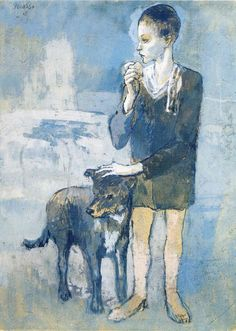 """""""Boy with a Dog,"""" 1905, Pablo Picasso."""