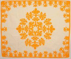 Hawaiian Applique Quilt: Circa 1940 at Stella Rubin Antiques