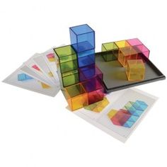 Rainbow+Crystal+Cubes+-+These+translucent+blocks+illuminate+the+brilliant+hues+of+yellow,+blue,+green,+and+magenta.+These+blocks+are+ideal+three-dimensional+building+manipulatives+perfect+for+the+light+table.++-+$54.99
