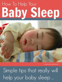 Simple tips that really will help your baby sleep (@Maaike Boven make lists)