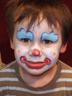 maquillaje payasito niño