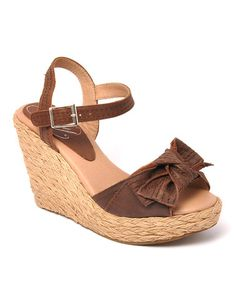 Take a look at this Brown Spunky Wedge by Envy on #zulily today!