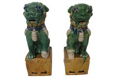 Antique Porcelain Foo Dogs - I love Foo Dogs and the legend behind them :)