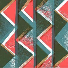 New design. Block print, collage and digital - Sarah Bagshaw