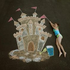 For you shutterbugs!  Here are 17 Sidewalk Chalk Creations for Creative Photography!!!