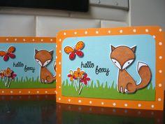 Fox Card Fox Birthday Card Hello Card Thank You by apaperaffaire