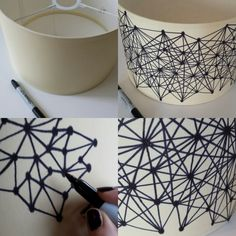 Things happen when I'm sat watching Boxing Day TV and trying to prevent myself from fridge picking. I was staring at this boring old lampshade trying to decide how I could give it some design…
