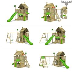 Ready to Build a Playhouse on Stilts? Backyard Playset, Garden Playhouse, Build A Playhouse, Playhouse Outdoor, Outdoor Toys, Kids Outdoor Playground, Backyard For Kids, Diy Paint Booth, Outdoor Play Areas
