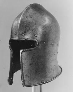 Jacopo da Cannobio, called Bichignola (Italian, Brescia, active ca. Armor All, Arm Armor, Medieval Knight, Medieval Armor, Medieval Helmets, Battle Dress, Vintage Helmet, Armadura Medieval, Viking Warrior