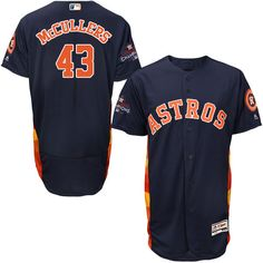 Astros #43 Lance McCullers Navy Blue Flexbase Authentic Collection 2017 World Series Champions Stitched MLB Jersey